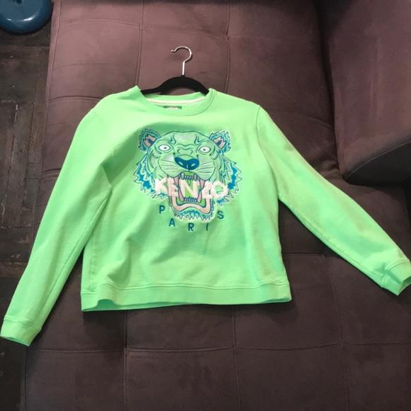 d9c1a9d5 Kenzo Sweaters | Lime Green Sweat Shirt | Poshmark